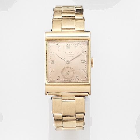 Rolex. An 18ct rose gold manual wind bracelet watch Chronometre, Ref:3255, Case No.50782, Retailed by Monetti of Napoli, Circa 1937