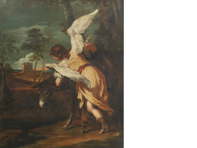 Sebastiano Ricci (Belluno 1659-1734 Venice) An angel and mule from The Flight into Egypt