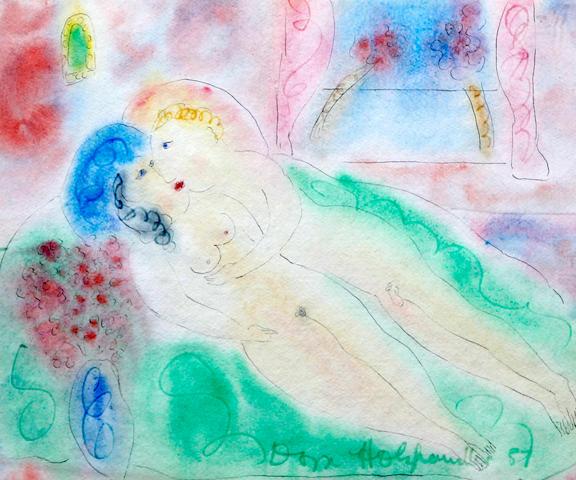Dora Holzhandler (British, born 1928) 'The Kiss'