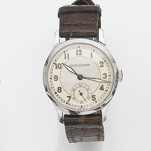 Jaeger-LeCoultre. A stainless steel manual wind wristwatch Case No.331756, Movement No.381295, Circa 1945