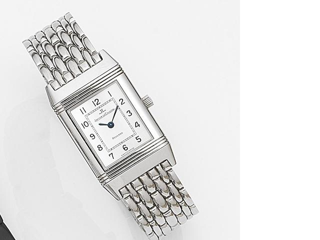 Jaeger-LeCoultre. A lady's stainless steel quartz reversible bracelet watch Reverso, Ref:260.8.08, Case No.1853589, Movement No.2791860, Circa 1997