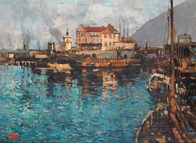 Robert Gwelo Goodman (South African, 1871-1939) Cape Town Docks