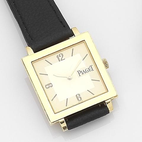 Piaget. An 18ct gold quartz wristwatch with box and papersRef:50930, Case No.886214, Sold 22nd October 2002