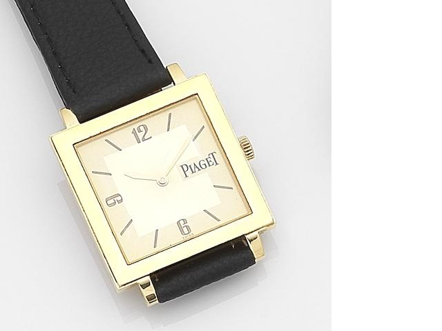 Piaget. An 18ct gold quartz wristwatch with box and papers Ref:50930, Case No.886214, Sold 22nd October 2002