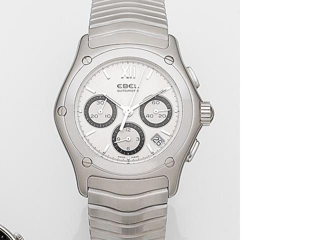 Ebel. A stainless steel automatic calendar chronograph bracelet watch with box and papers Classic Wave, Ref:9126F41, Case No.58515412, Circa 2007