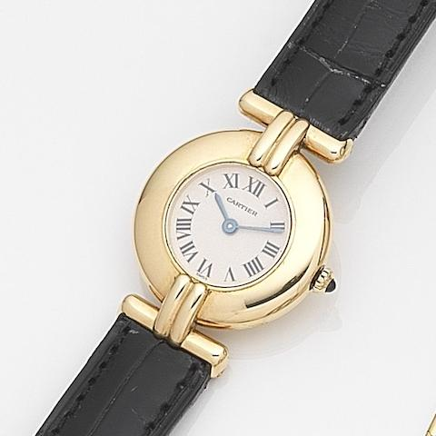 Cartier. An 18ct gold quartz wristwatchMust de Cartier, Case No.810921083, Circa 1988