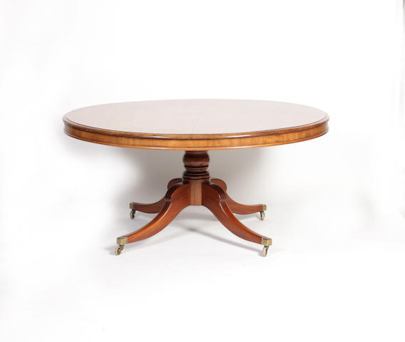 A large Scottish Regency mahogany dining table