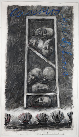William Joseph Kentridge (South African, born 1955) Casspirs full of Love, encaustic 'Casspirs full of love'