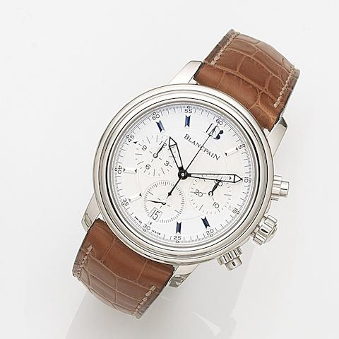 Blancpain. A stainless steel automatic calendar chronograph wristwatch Léman Chronograph, Case No.1959, Circa 2005