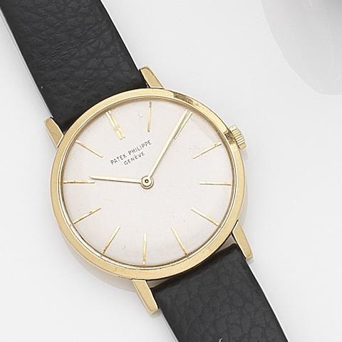 Patek Philippe. An 18ct gold manual wind wristwatchCirca 1960