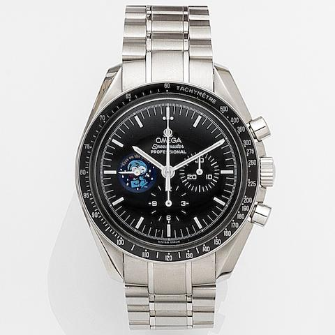 Omega. A stainless steel manual wind chronograph bracelet watch with box and papers Speedmaster Professional Snoopy Award, Ref:3578.5100, Case No.77120556, Sold 28th March 2008