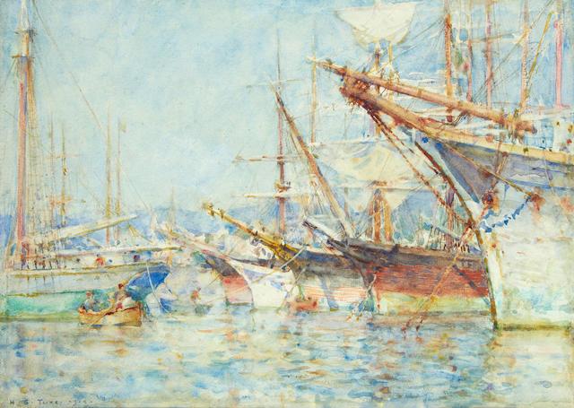 Henry Scott Tuke, RA, RWS (British, 1858-1929) 'Genoese Shipping'