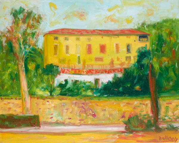 John Bellany CBE RA HRSA LLD(Lon) (British, born 1942) 'Michael Douglas's house, Majorca'