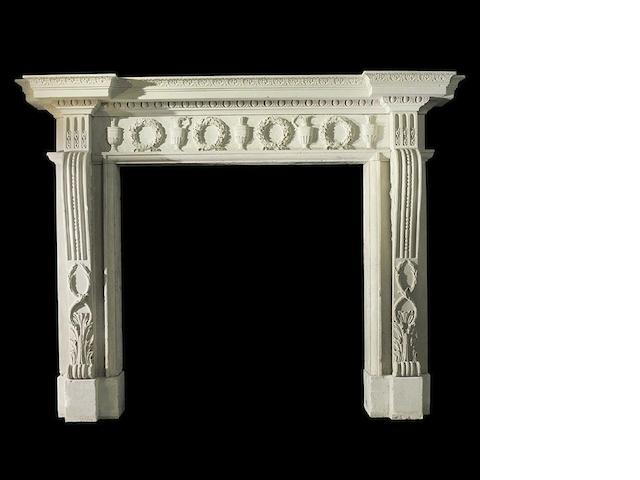George III stone chimneypiece