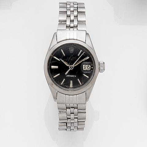 Rolex. A lady's stainless steel automatic bracelet watch Ladydate, Ref:6519, Movement No.99***, Circa 1972