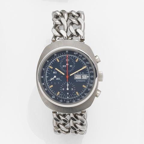 IAXA. A stainless steel automatic calendar chronograph bracelet watch Ref:7000, Circa 1975