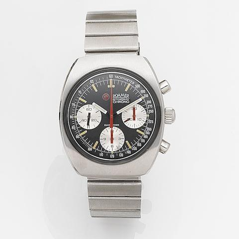 Roamer. A stainless steel manual wind chronograph bracelet watch Stingray Chronograph, Ref:726-9120.602, Circa 1975