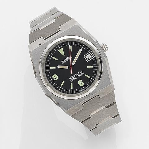 Roamer. A stainless steel automatic calendar bracelet watch Rockshell Cape Horn, Ref:522-5120.017, Case No.358522, Circa 1989