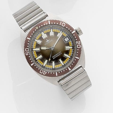 Dugena. A stainless steel automatic calendar bracelet watchWatertrip, Case No.542481, Circa 1975