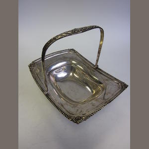 A  silver swing-handled basket by William Hutton & Sons Ltd, London 1899 and other items (7)