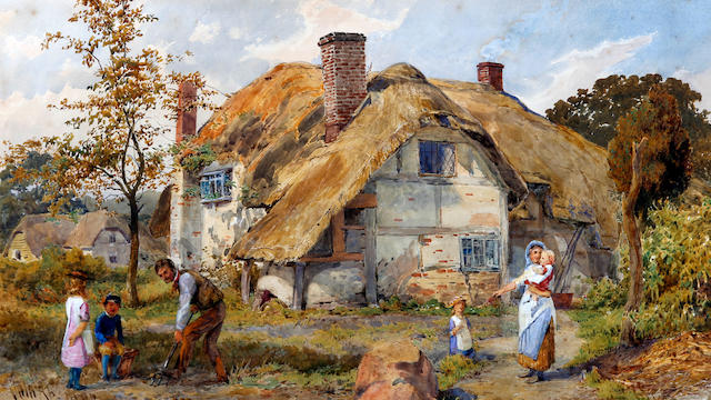 John Absolon (British, 1815-1895) 'Our Cottage, Wilts'