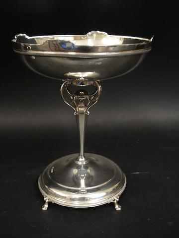 A silver pedestal dish by Roberts & Belk, Sheffield 1918