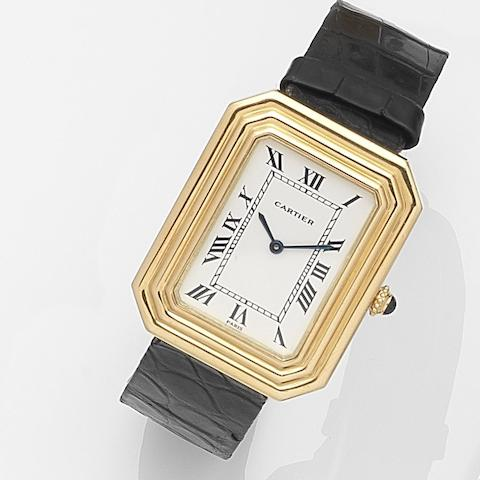 Cartier. An 18ct gold manual wind wristwatch Case No.780960429, Circa 1975
