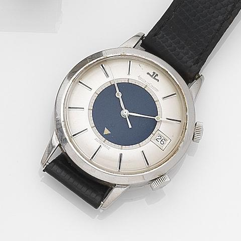 Jaeger-LeCoultre. A stainless steel automatic calendar alarm wristwatch Memovox, Ref:855, Case No.1232676, Movement No.1639731, Circa 1960