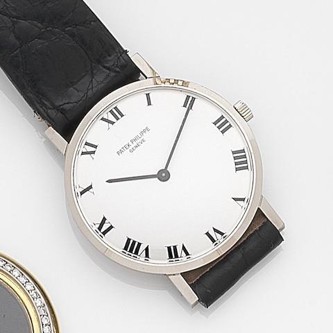 Patek Philippe. An 18ct white gold manual wind wristwatchRef:3512, Case No.331791, Movement No.1178866, Circa 1965