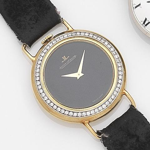 Jaeger-LeCoultre. An 18ct gold and diamond set manual wind wristwatchRef:4472 21, Case No.1479634, Movement No.2203649, Circa 1972