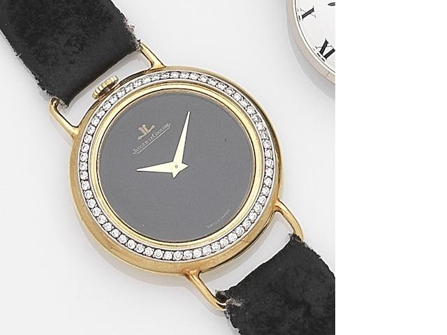 Jaeger-LeCoultre. An 18ct gold and diamond set manual wind wristwatch Ref:4472 21, Case No.1479634, Movement No.2203649, Circa 1972