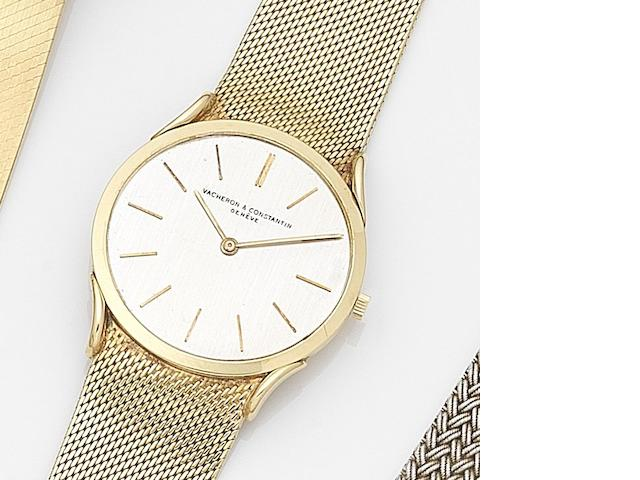 Vacheron & Constantin. An 18ct gold manual wind ultra thin bracelet watch Circa 1960