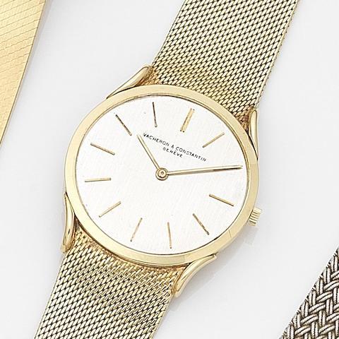 Vacheron & Constantin. An 18ct gold manual wind ultra thin bracelet watch Circa 1960