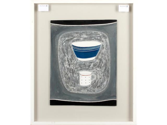 Rachel Nicholson (British, born 1934) Still Life With Deep Blue Bowl