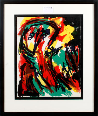 Karel Appel (Dutch, 1921-2006) Abstract portrait colour lithograph from XXe Siecle, 1961, 31 x 24.5cm; together with five others from 'Noise 7' (pub. Maeght 1987). (6)