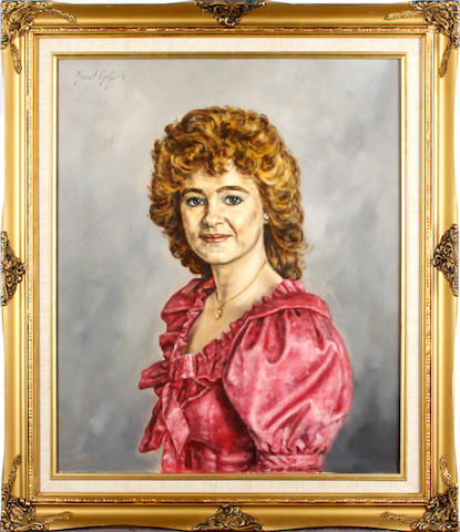 "David Griffiths (British, born 1939) Portrait of Donna Edwards as Miriam Ambrose from the HTV/S4C series ""Dinas"""
