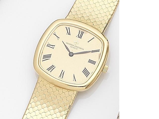 Vacheron Constantin. An 18ct gold manual wind bracelet watch Ref:33023 P, Case No.547456, Movement No.714892, Circa 1980