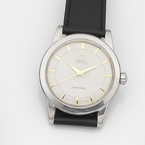 Omega. A stainless steel automatic centre seconds wristwatch Seamaster, Ref:2576-12, Movement No.14227522, Circa 1954
