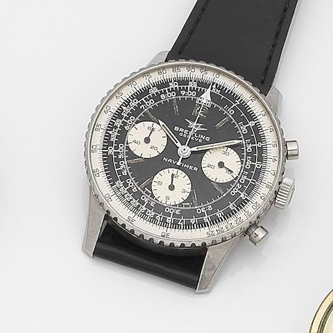 Breitling. A stainless steel manual wind chronograph wristwatchNavitimer, Ref:806, Case No.1067636, Circa 1960