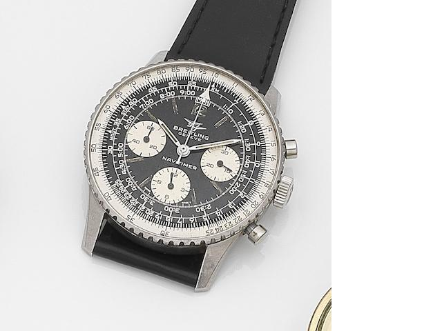 Breitling. A stainless steel manual wind chronograph wristwatch Navitimer, Ref:806, Case No.1067636, Circa 1960