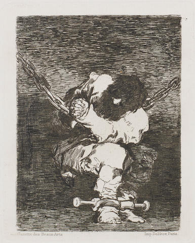 Francisco José de Goya y Lucientes (1746-1828) The Little Prisoner Etching, 1867, from the First Edition, third state of four, printed by Delâtre, published by Gazette des Beaux Arts, with the letters below the image, on laid, 105 x 85mm (4 1/8 x 3 3/8in)(PL)