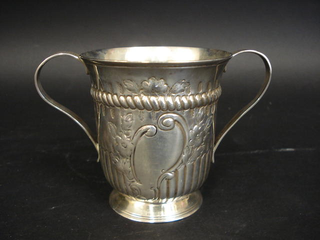 A George III silver two-handle cup by John Kidder, London 1781