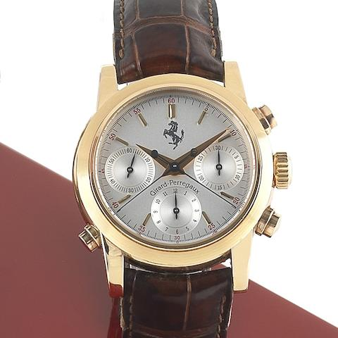 Girard-Perregaux. An 18ct gold automatic split seconds chronograph wristwatch with box and papersFerrari chronographe a rattrapante, Ref:1509, Case No.16, Manufactured 17th May 1995
