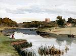 John Henry Mole (British, 1814-1886) 'Norham Castle'