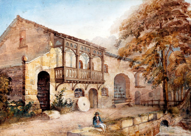 English School, (19th century) A collection of landscape watercolours and drawings etc.