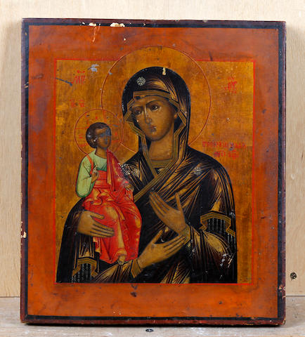 Russian School, (later 19th century) The Three Handed Mother of God