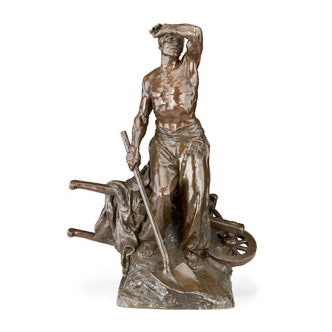 Marcel Lambert, French An early 20th century bronze of Farm workercast by Thiebaut Fres