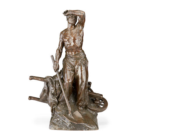 Marcel Lambert, French An early 20th century bronze of Farm worker cast by Thiebaut Fres