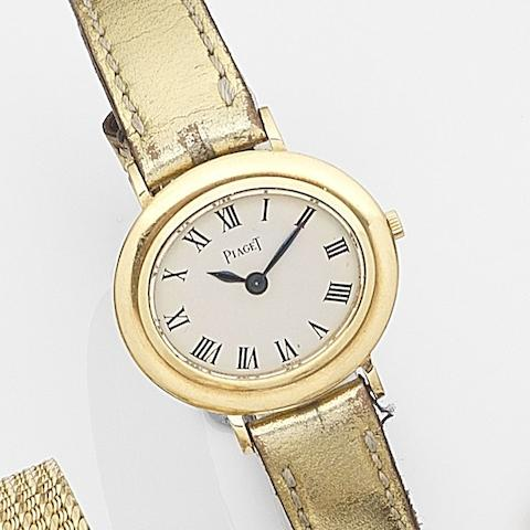 Piaget. A lady's 18ct gold manual wind wristwatchRef:9332, Case No.112808, Movement No.657588, Sold 3rd December 1971