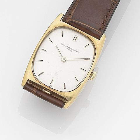 Vacheron Constantin. An 18ct gold manual wind wristwatch with box and papers Ref:34003, Case No.520164, Movement No.679424, Sold 13th November 1990